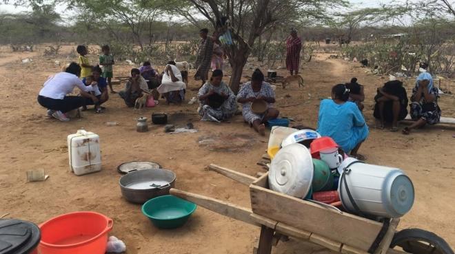 La comunidad indígena Wayúu es una de las más afectadas por la sequía y falta de acceso al agua (La Guajira, Colombia). Fuente Zonacero.com